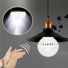 XLIN 5PC E27 3-12W 220V Sound Sensor LED Bulb Auto PIR Motion Detection Home Light Lamp white 5pcs 3W