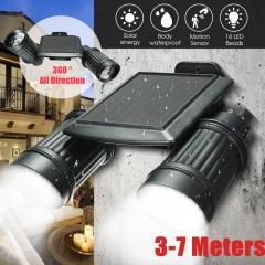 Waterproof 14 LED Solar Power PIR Motion Sensor Wall Lamp Light Garden Outdoor Security Spotlight