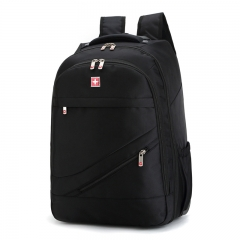 XLIN 18 inches Men's Travel Bag Polyester Bags Waterproof Computer Packsack Trolley Backpack black 50*30*20CM