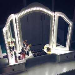 Led Vanity Mirror Lights Kit 4M 240 LEDs Makeup Vanity Mirror Light for Vanity Makeup Table Set 6500K (cold white) 4M 240 LED 1