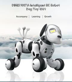 9007A Intelligent RC Robot Dog Toy 2019 New RC Smart Dog Sing Dance Walking Remote Control Robot Dog white 1set