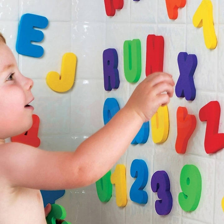 36in1 A-Z Letters &amp 0-9 Numbers Foam Floating Bath Tub Stick Toddler Child Toy color 5.5*7.5CM