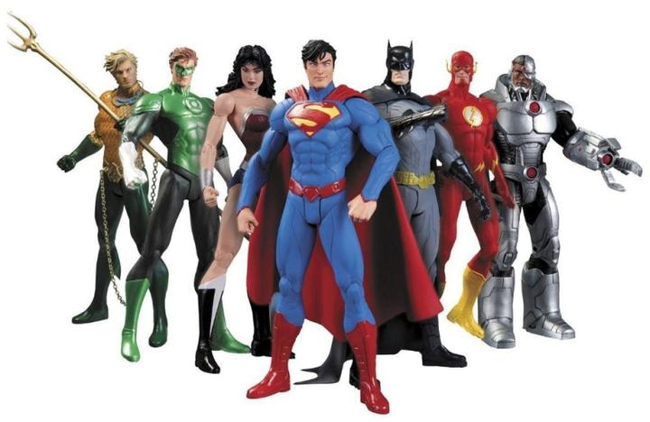 Hot Sale 7pcs/set Justice league superman Wonder flash batman Lantern Aquaman movable PVC Action Marvel Superhero 7pcs/set