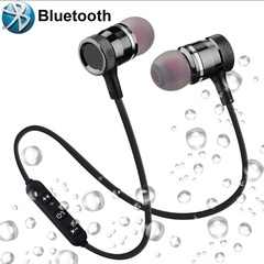 Bass Bluetooth Earphones Wireless Fitness Headphones with MIC Earphones Stereo Headset BLACK