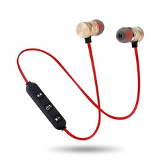 Bass Bluetooth Earphones Wireless Fitness Headphones with MIC Earphones Stereo Headset RED