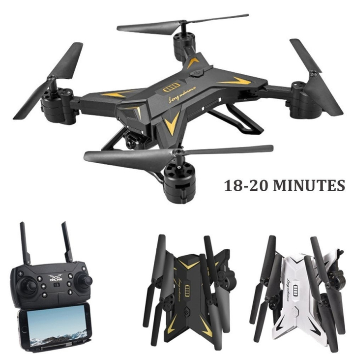 Professional Foldable Drone 6 Axis HD Camera FPV WIFI Real Time Transmission RC Drone Quadcopter black No camera