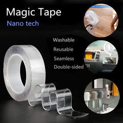 Multifunctional Double-Sided Adhesive Nano Tape Traceless Washable Removable Tapes Indoor Outdoor Transparent 1 meter