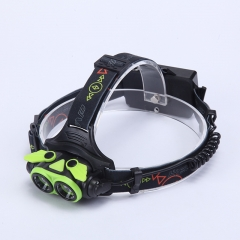 Elfeland  4 Modes Waterproof LED Zoom Headlamp Torch  With SOS Help Whistle for Outdoor Camping green full set
