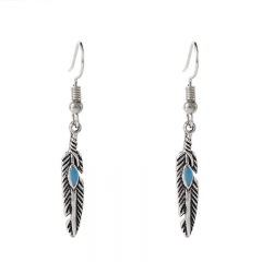 BNW European and American Greek fashion  jewelry jewellry earrings vintage feather earrings10007 Silver 2g