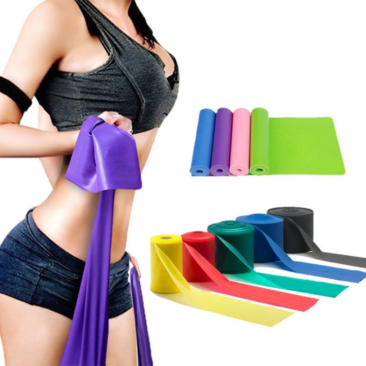 4 Pcs Elastic Resistance Bands Rubber Training 3 Levels Bands Gym Yoga Fitness Equitment
