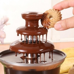 Mini Chocolate Fountain Machine Creative Design Chocolate Melt Heat Fountain Machine For Kids Gift Eu plug 220v