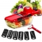 8 Pcs/Set Salad Vegetable Cutter Potato Peeler Carrot Cheese Grater Vegetable Slicer Red As Picture