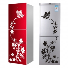High Quality Creative Refrigerator Black Sticker Butterfly Pattern Wall Stickers Home Decoration Black 48*88cm