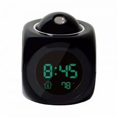 New Multi-Function Projection Clock Led Colorful Projection Alarm Clock Voice Report Clock