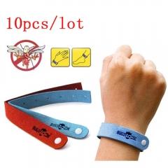 10 Pcs Mosquito Repellent Bracelet Wrist Anti Insect Bugs Suitable For Adult Child Non-toxic Random Color 25*1.8cm