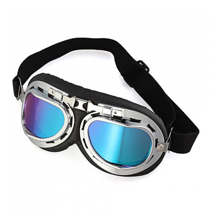 Motocross Goggles Harley Style Motorcycle Goggles Glasses Lens locomotive Ski Helmet Goggle Colorful 19*8.2cm