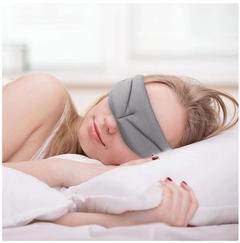 1PC Sleeping Eye Mask, 3D contoured design 100% Polyester Ultra-Soft Memory Foam Sleeping Cover Gary 630mm/25in