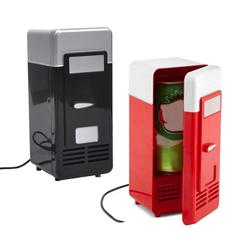 USB Mini Fridge Cooling /Heat refrigerator Portable Car Use Mini Fridge Red 9*8*19cm