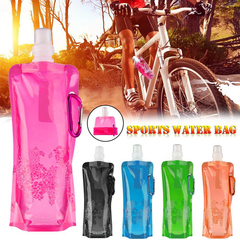 0.5L Portable Ultralight Foldable Water Bag Soft Flask Bottle Outdoor Sport Hiking Camping Water Bag
