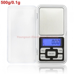 100g 200g 500g Electronic Digital Precision Mini Scale Jewelry Scales Pocket Scale Balance for Gold Silver 500g/0.1g