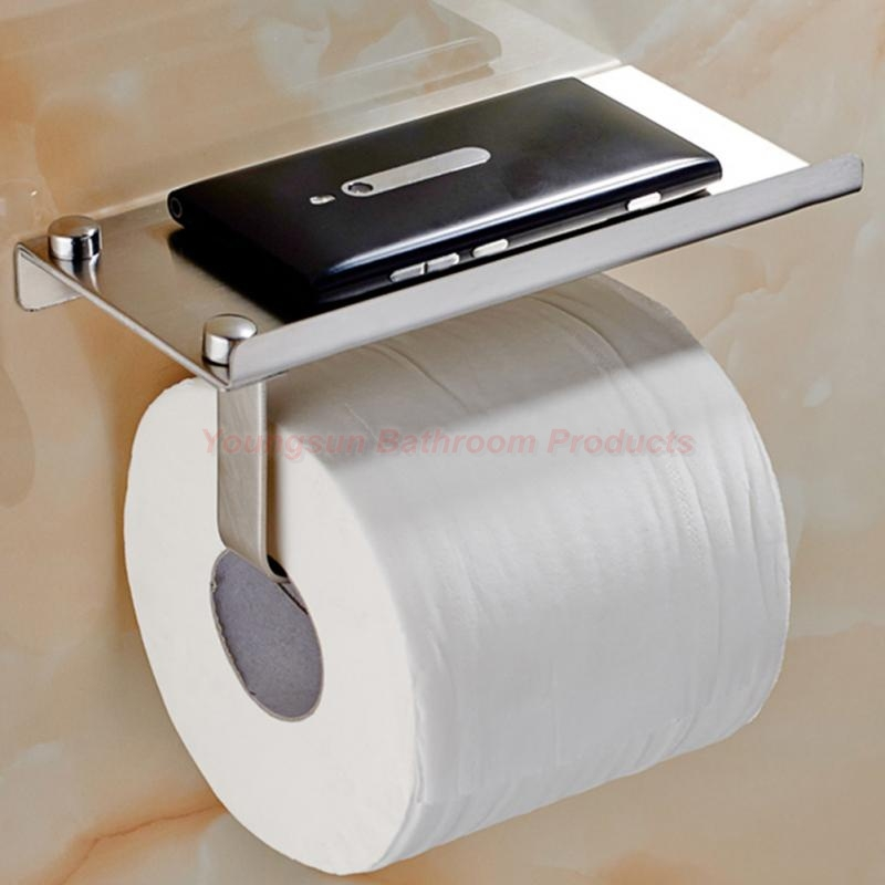 Provided Simple Bathroom Accessories Toilet Paper Holder White Lavatory Closestool Toilet Paper Dispenser Tissue Box Goods Of Every Description Are Available Home Improvement Bathroom Fixtures