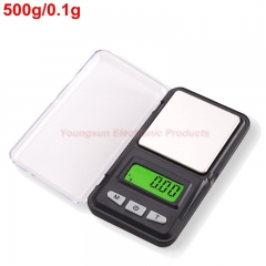 Electronic Balance 100g 200g 500g Digital Weight Scale Mini Pocket Jewelry Scale Gold Coin Balance Black 500g/0.1g