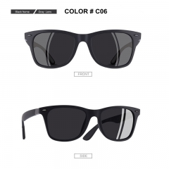 Classic Polarized Sunglasses Men Square Frame Sun Glasses Male Driving Goggles UV400 Eyewear Shades C06 One Size
