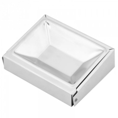 Stainless Steel Soap Dish Holder Cigar Ashtray Wall Mounted Bathroom Shelf Soap Box Holder Container polished finish square