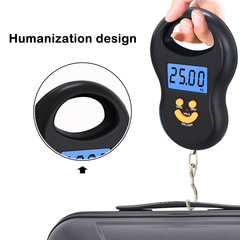 Portable Hanging Scale 50Kg/10g Digital Scale Pocket Weight Scale Balance Electronic Luggage Scales black blue backlight
