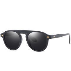 Classic Sunglasses Men Clear Lens Glasses Women Plain Mirror Fashion for Female Oculos UV400 Eyewear C1 one size