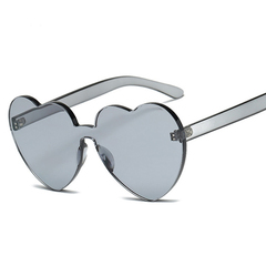 Candy Color Love Heart Women Sunglasses Cat Eye Heart Shape Sun Glasses for Lady Eyewear UV400 c01 one size