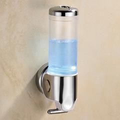 300ml Lockable ABS Plastic Liquid Soap Dispenser Manual Bath Cream Dispenser Bathroom Hand Sanitizer transparent white wall mounted