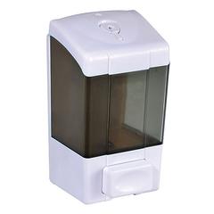 500ml Lockable ABS Plastic Liquid Soap Dispenser Bathroom Shower Gel Holder Manual Shampoo Dispenser grey wall mounted