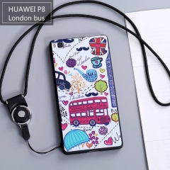 Huawei p8 with lanyard mobile phone shell standard version  protective cover anti-fall matte case London bus For HUAWEI P8