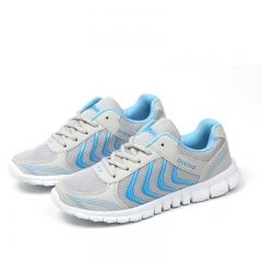 New Women Casual Sport Shoes Outdoor Air Mesh Sneakers Ladies Shoes Breathable Running Shoes light grey 36