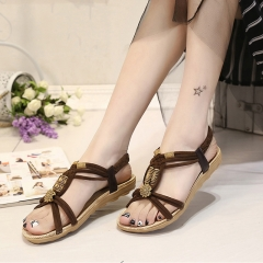 Women Shoes Sandals Comfort Sandals Summer Flip Flops Fashion Flat Sandals Gladiator Sandals brown 35