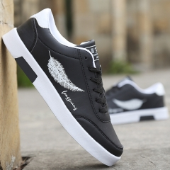 Fashion Casual Students White Board Shoes Men Trend Of Breathable Canvas Shoes Sneakers black 39