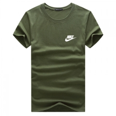 Fashion casual men's men's t-shirt cotton loose short-sleeved t-shirt green xxxxxl