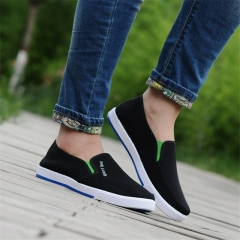 2018 Men's Cloth Shoes Size 39-44 Wear-resisting Rubber Soles Comfortable Casual Loafers&Slip-Ons A 39