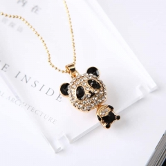 Cute girls,long style animal shape necklace,cat,rabbit,bear and owl color bear one size bear long style