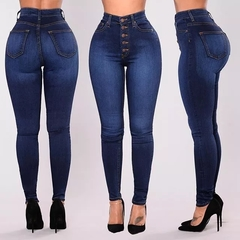 New explosion models large size women's hot new high waist stretch slim jeans cowboy color xl