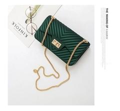 2019 new matte frosted jelly bag, mini handbag green big(17 cm in diameter)