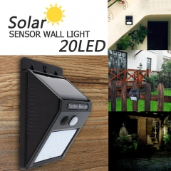 Solar light 20LED high brightness outdoor wall lamp body sensor light waterproof