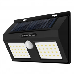 Enhanced Edition 40 led new outdoor solar body induction wall lamp