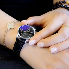 New ladies watch women's business quartz watch women's watch fashion watch black belt black plate