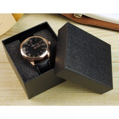 Dark pattern square watch case watch box watches packaging hand gift box black
