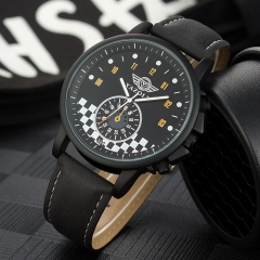Trendy business models Korean version of the big black frame quartz watch men's couple watches Black dial black strap