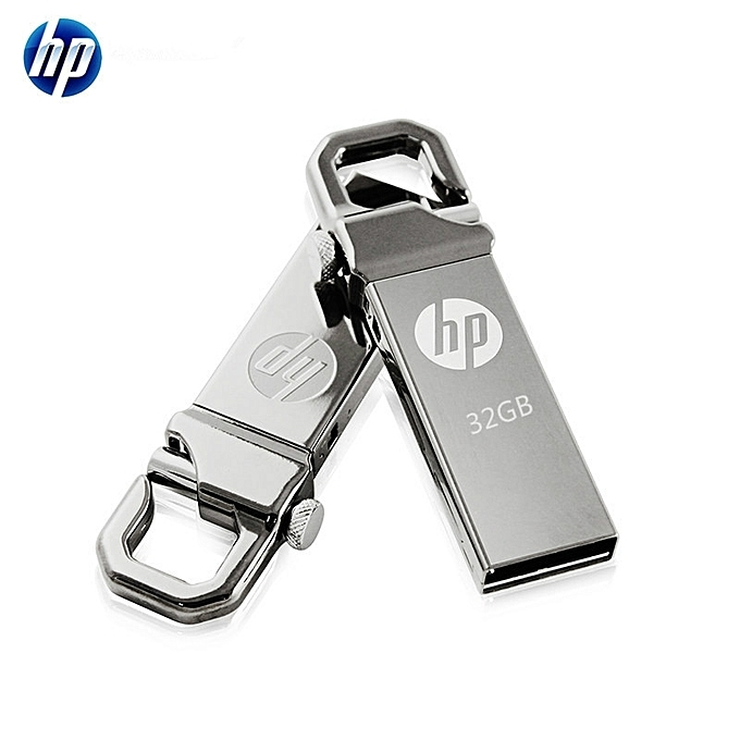 HP V250W USB Flash Drive 16GB 32GB Metal Waterproof flashdisk flash disk silver HP 32g 10m/s