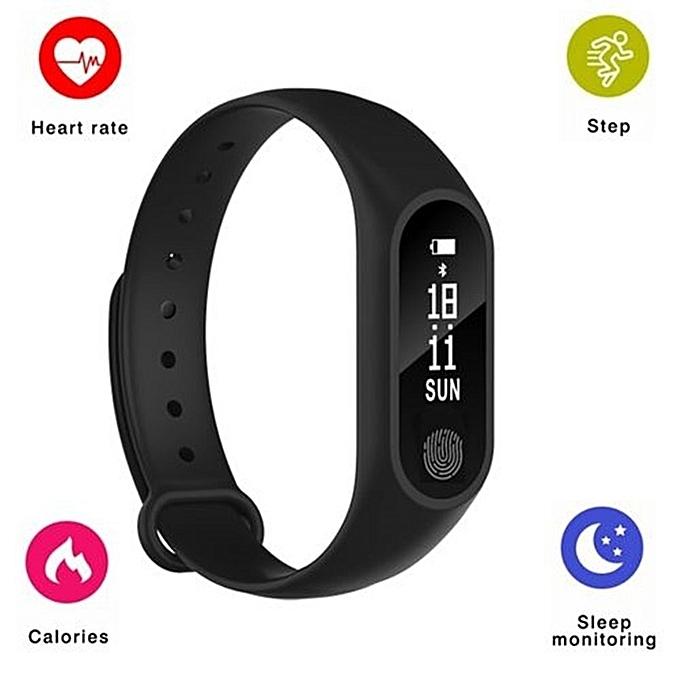 2est M2 Smart Bracelet Smart watchHeart Rate Monitor Bluetooth Smartband Health Fitness Tracker BLACK