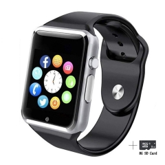 2EST Smart Watches Bluetooth Smart Watch Fitzladd A1 Touch Screen  Watch Phone with SIM Card sliver